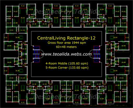 CentralLiving Rectangle floor plan