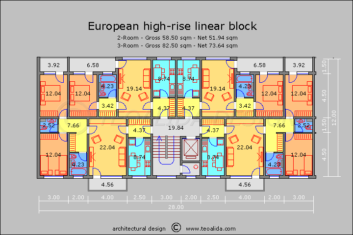 European high-rise block