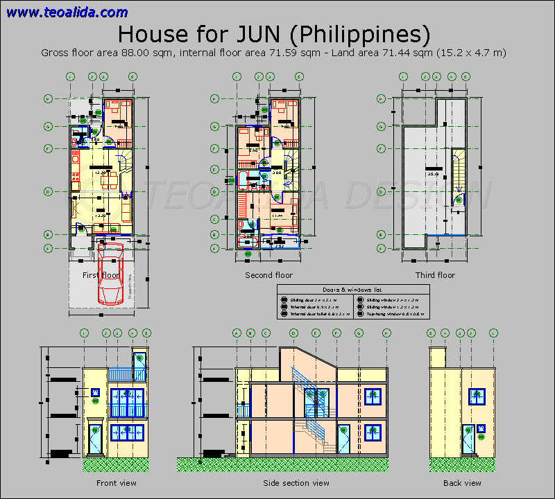 House floor plans 50400 sqm designed by Teoalida – Sample House Designs And Floor Plans In The Philippines