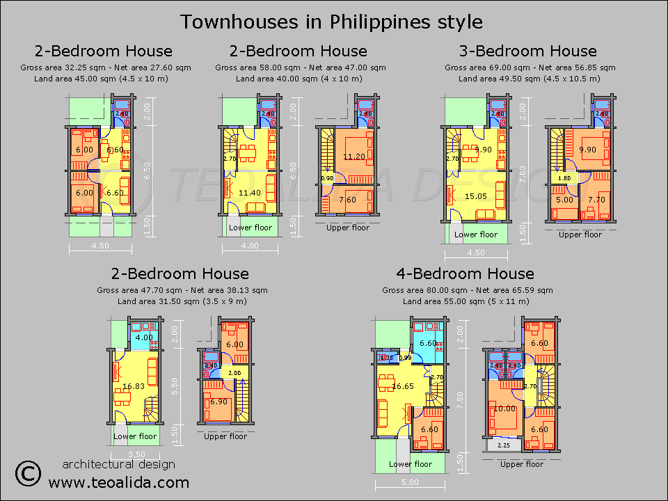 House floor plans 50 400 sqm designed by teoalida for 2 storey apartment floor plans philippines