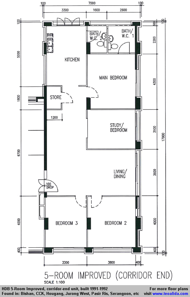 Studio apartment hdb floor plan unique studio apartment for Apartment design guide part 3