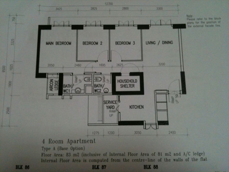 SkyVille @ Dawson 4-room floor plan