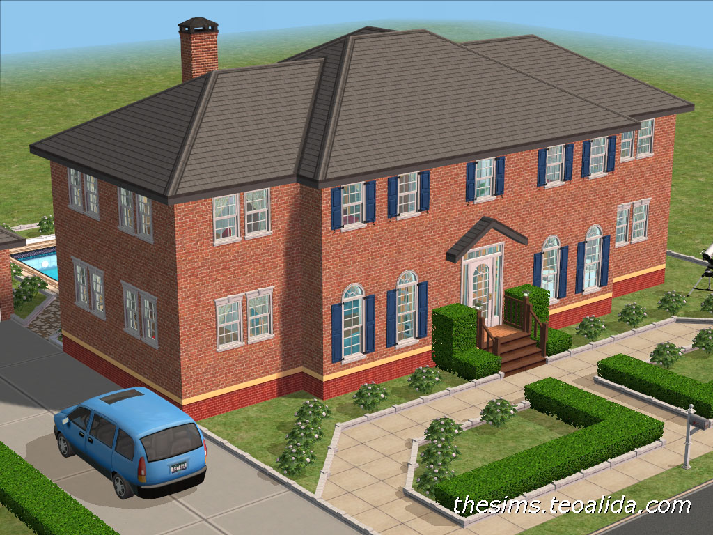 Home alone movie house the sims 2 version the sims for Sims 2 house designs floor plans