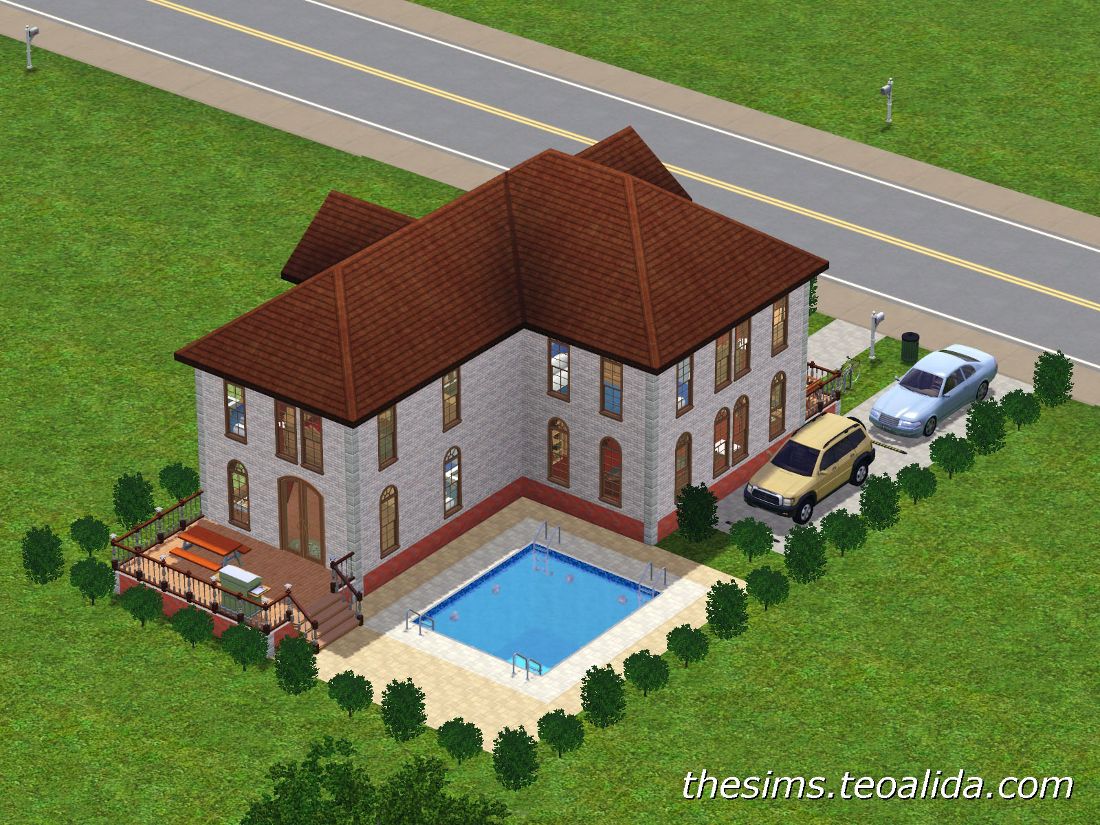 L shaped house the sims fan page for L shaped house pictures