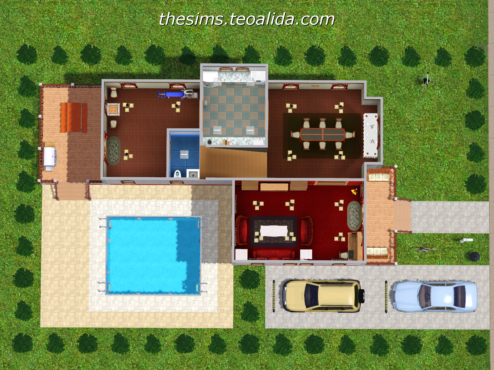 L-Shaped House | The Sims fan page