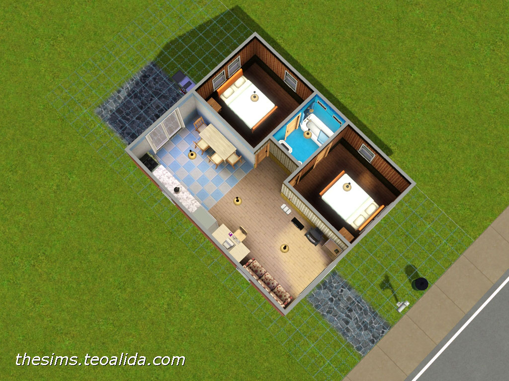 The sims house downloads home ideas and floor plans part 3 for Starter home floor plans