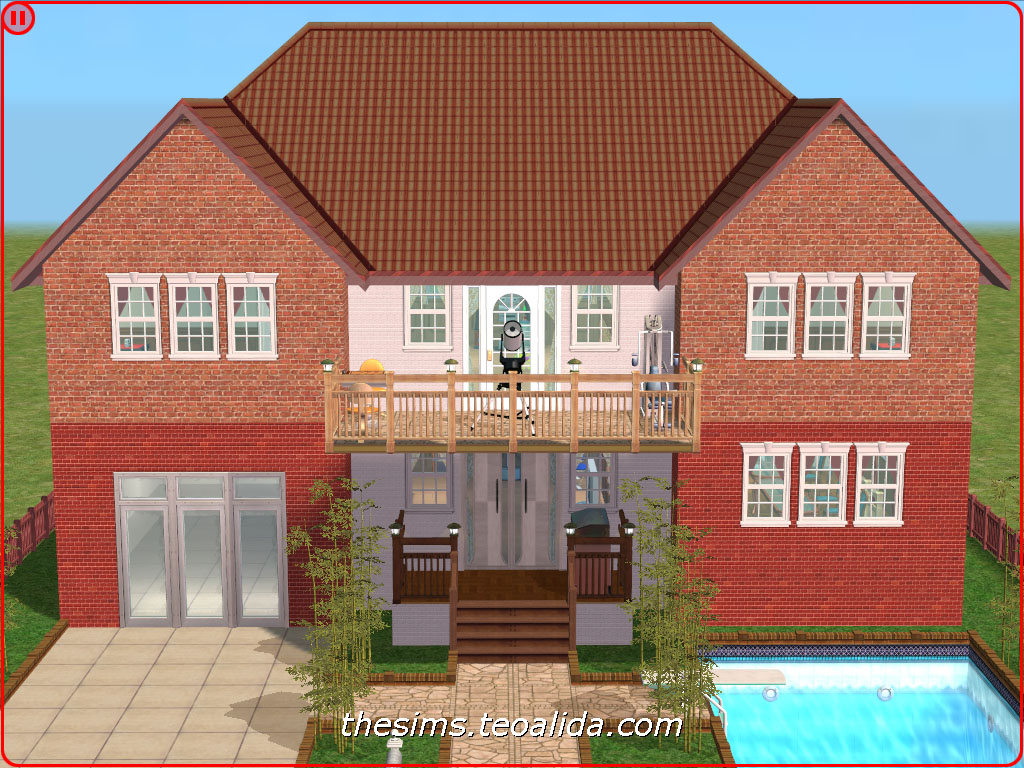 Symmetrical Palace Style House On 2x2 Lot The Sims Fan Page
