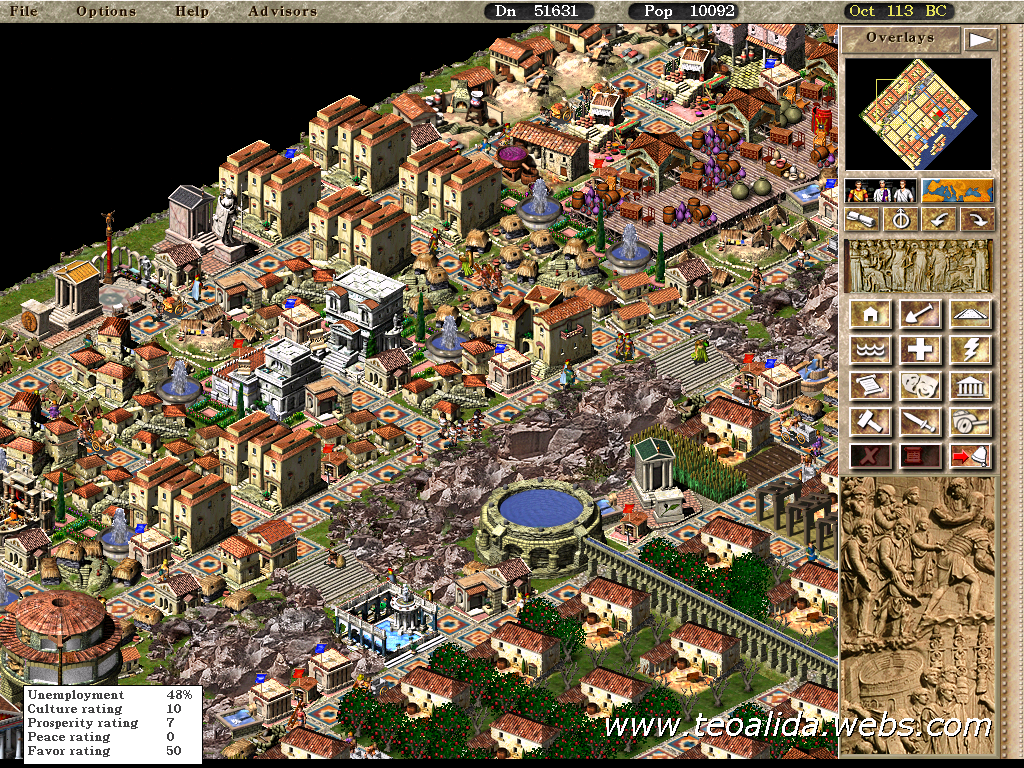 Caesar 3 fan page teoalida website biggest caesar3 cities maps from city construction kit gumiabroncs Choice Image