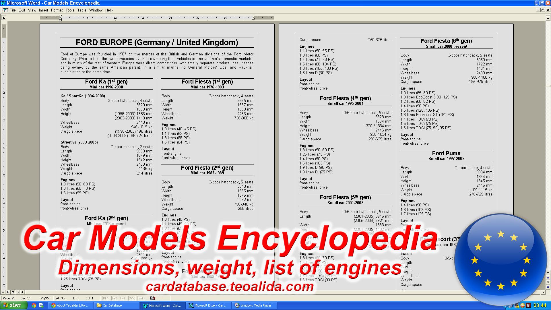 car encyclopedia make models dimensions list of engines car database. Black Bedroom Furniture Sets. Home Design Ideas
