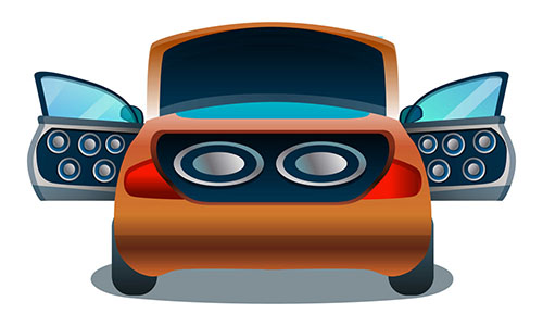 Car speakers size