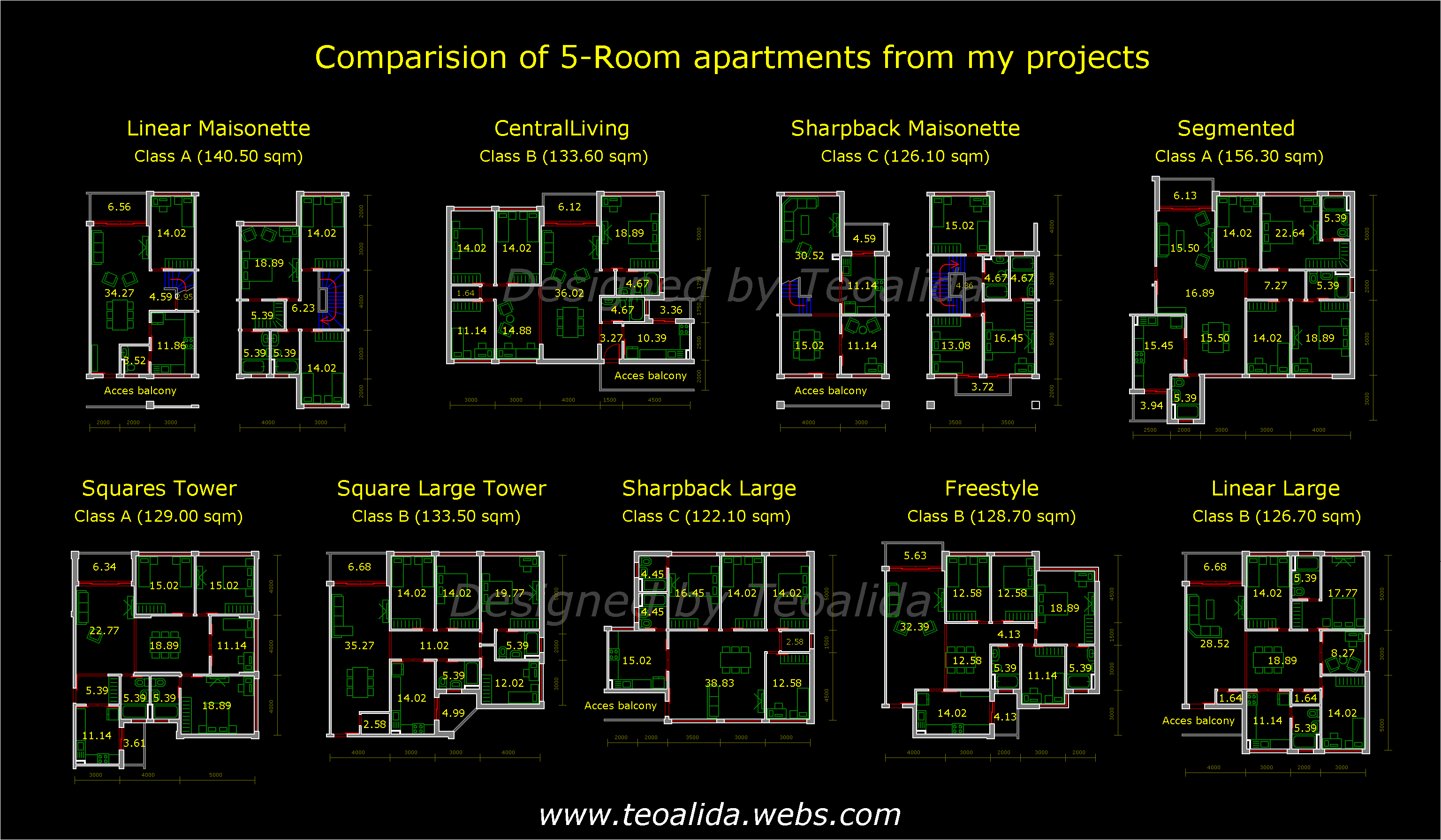 Apartment plans 30 200 sqm designed by teoalida teoalida website