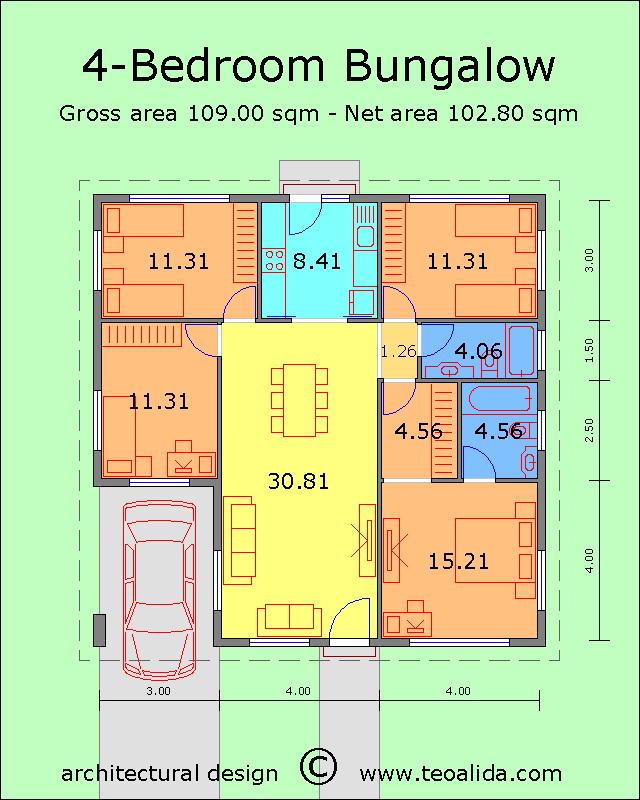 Rumah banglo 4 bilik tidur
