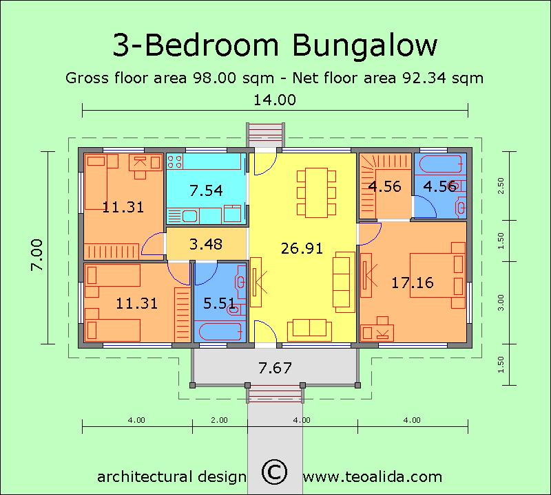 Rumah banglo 3 bilik tidur