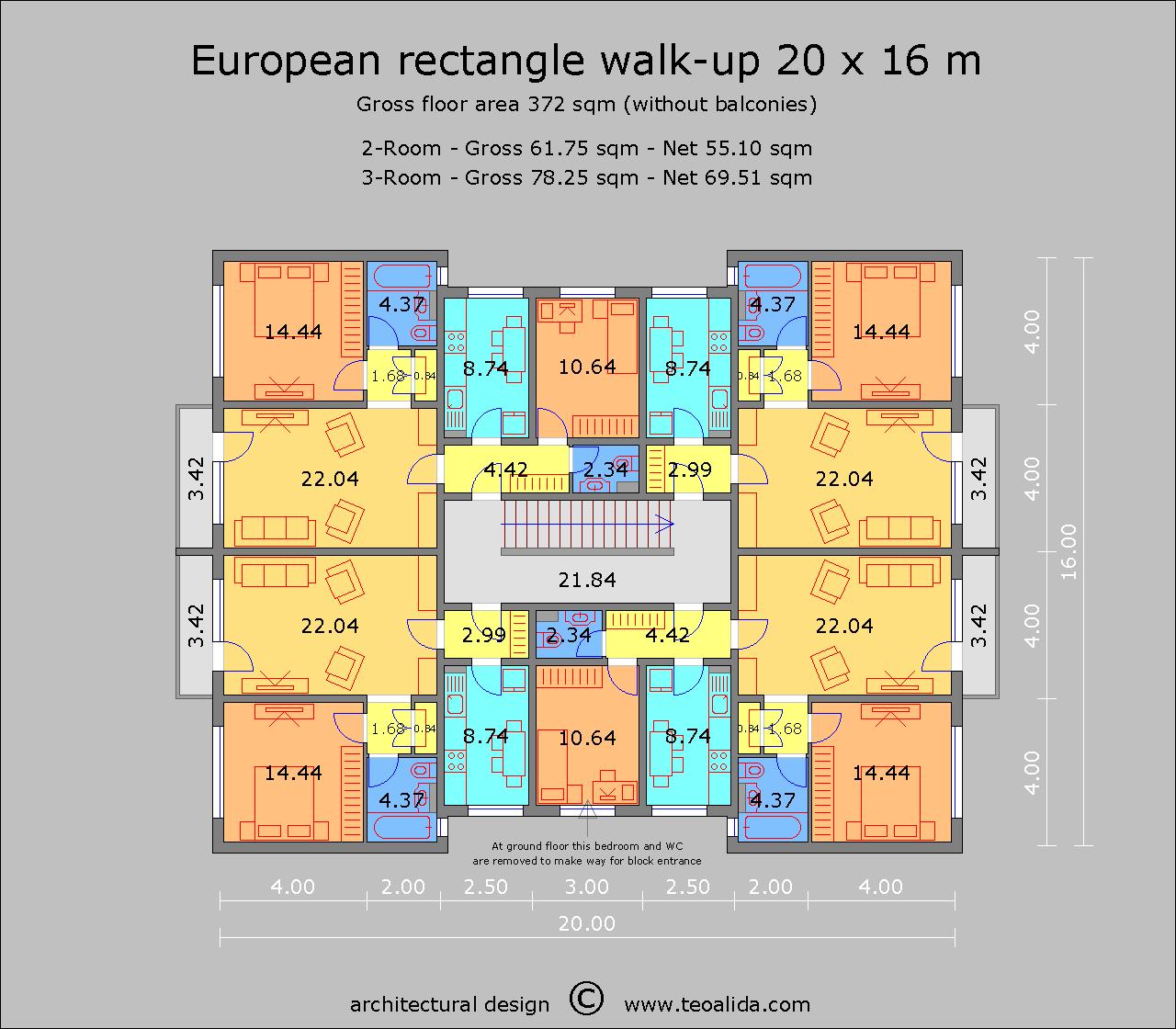 European Rectangle 20 x 16 m
