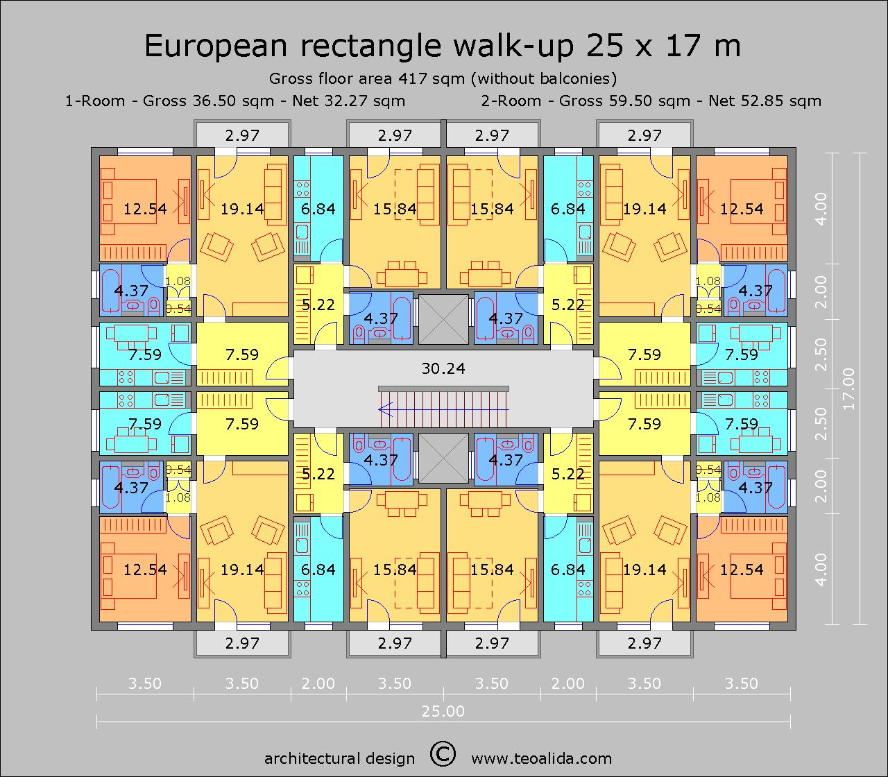 European Rectangle 25 x 17 m