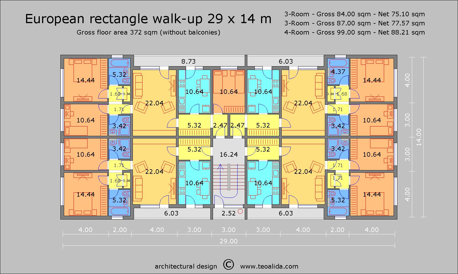 European Rectangle 29 x 14 m