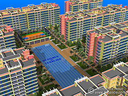 Freestyle Linear 1024 apartment complex, blue version