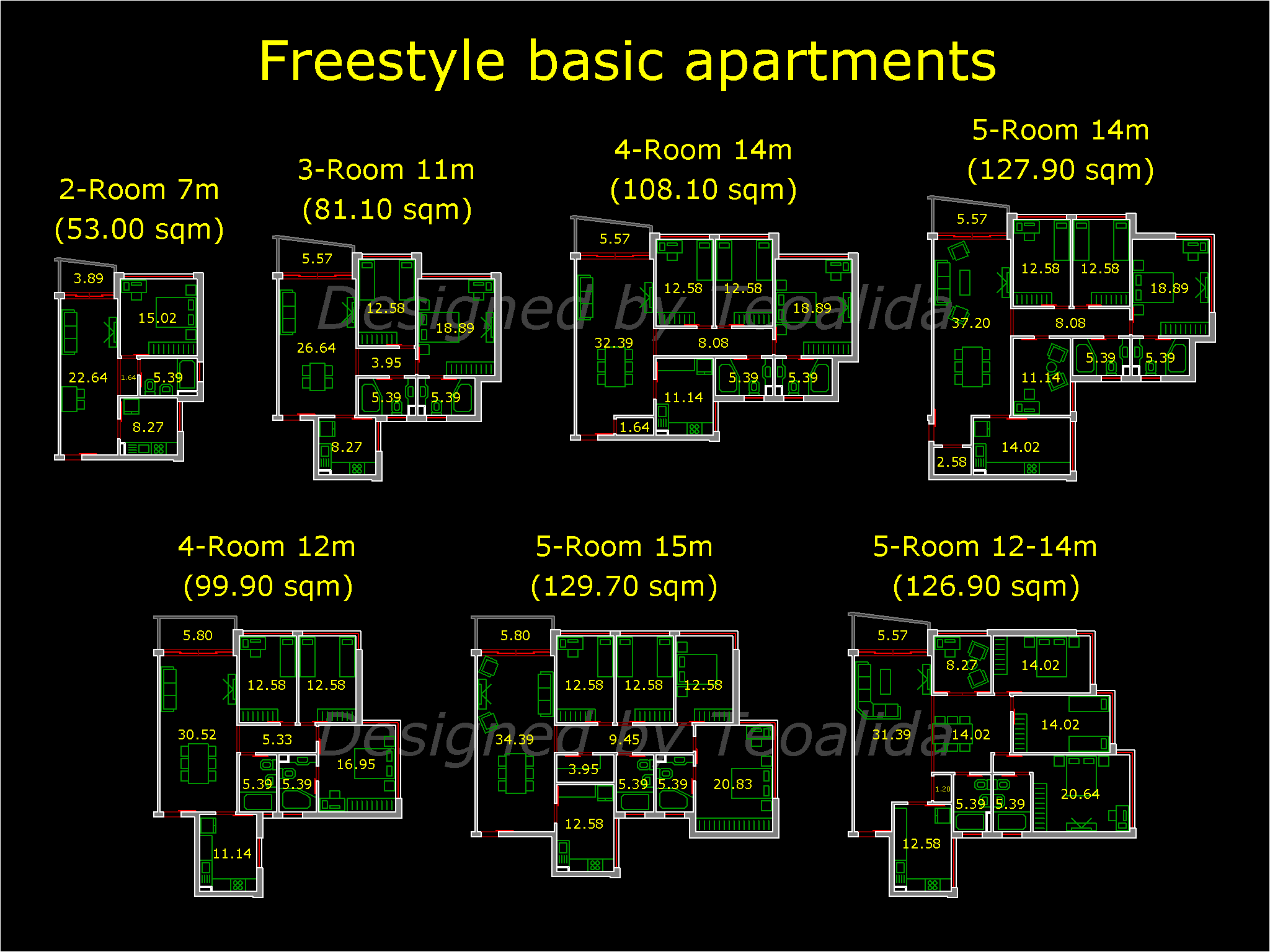 Freestyle standard unit types