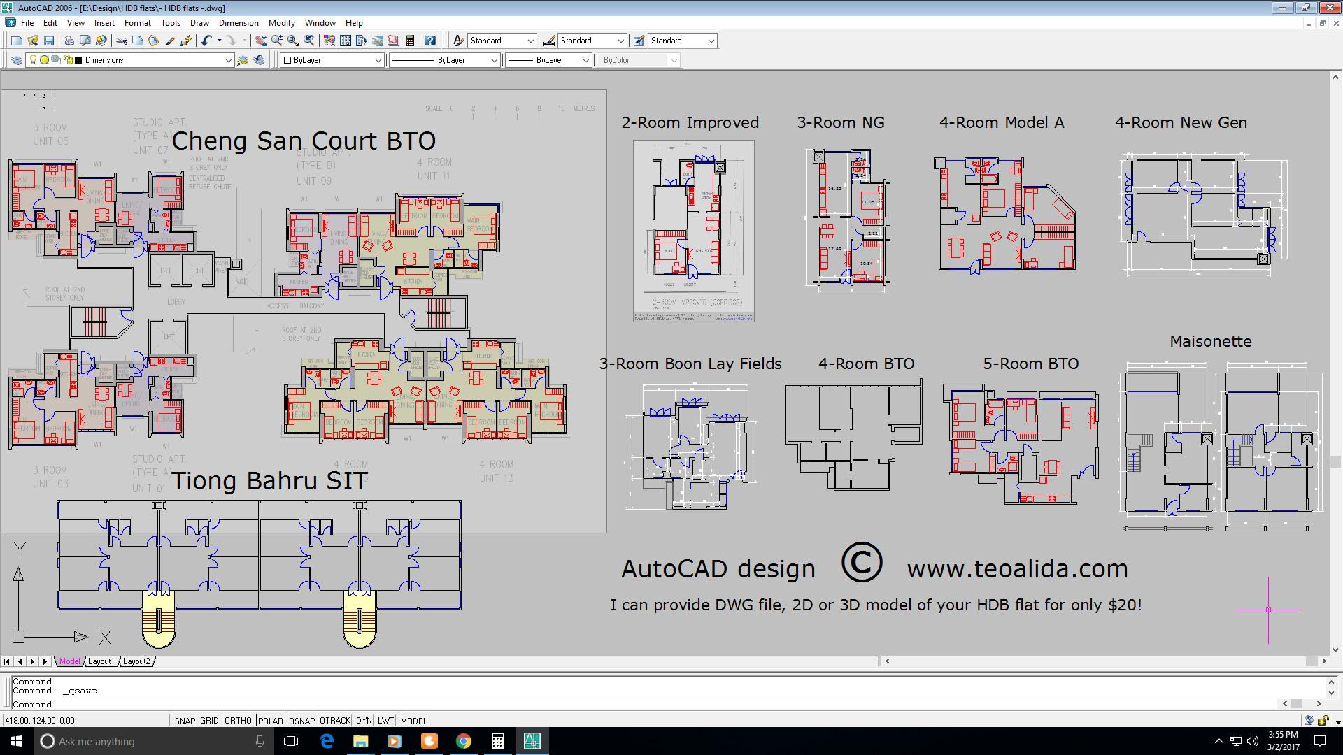 Hdb Floor Plans In Dwg Format Autocad Design The World Of Teoalida