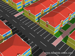 Cluster terraced houses, 4-6 meters wide and 10 meters long