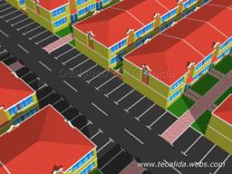 Cluster terraced houses, 4-6 meters wide and 10 meters long