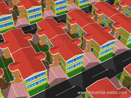 Quarter-Detached houses, 5 meters wide and 10 meters long