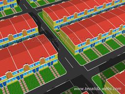 Terraced houses, 3 meters frontage and 12 meters long