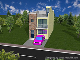 3D house design front view