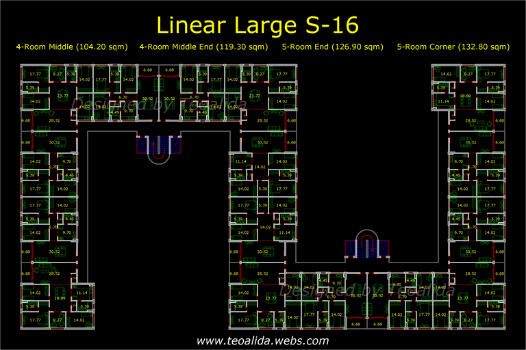 Linear Large S-16 floor plan
