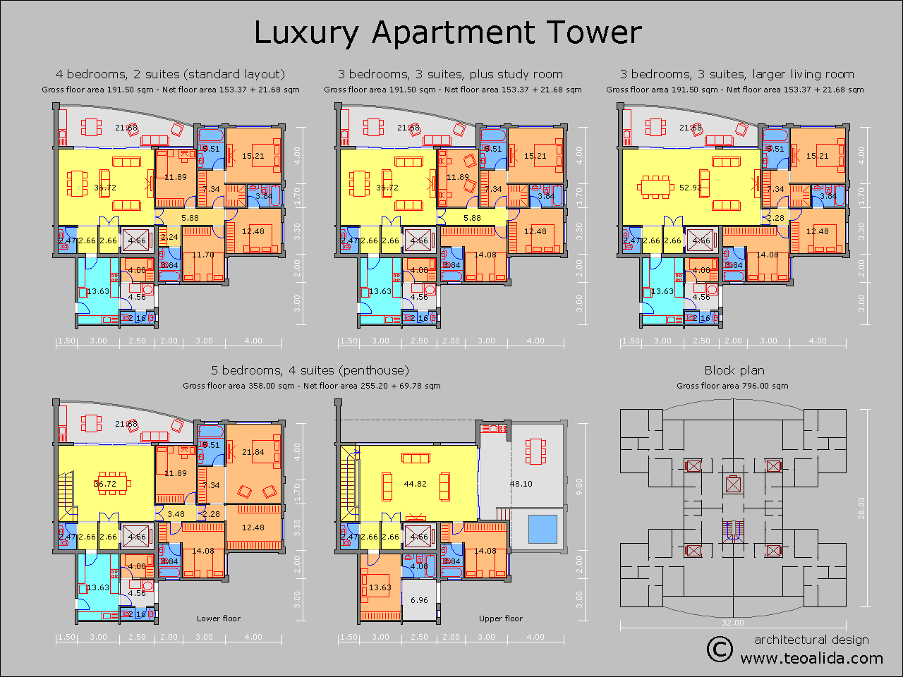 Luxury apartment tower