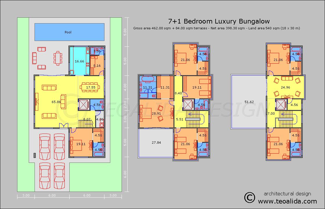 Rumah banglo 7 bilik tidur 450 meter persegi