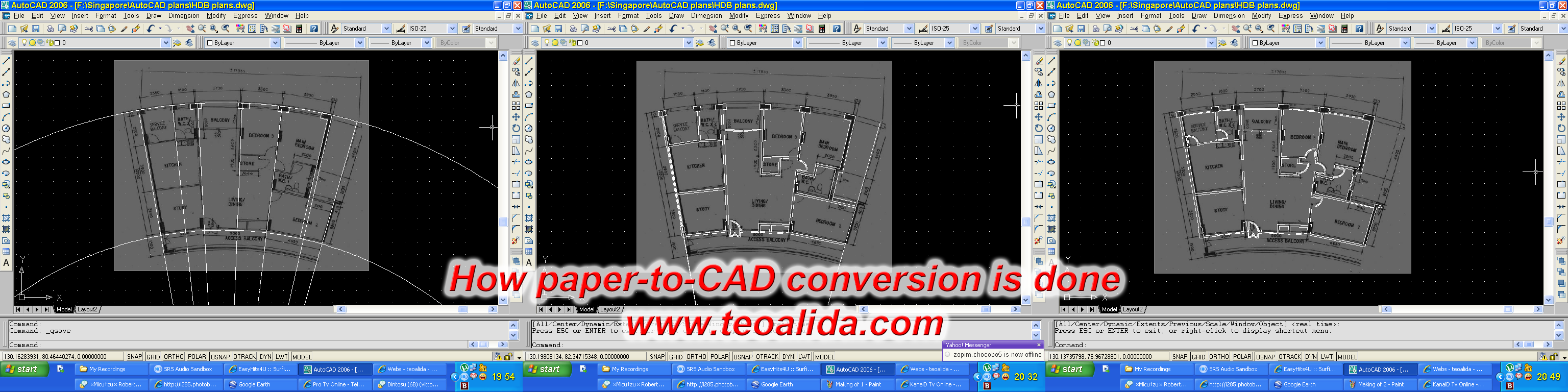 Paper to CAD conversion making of