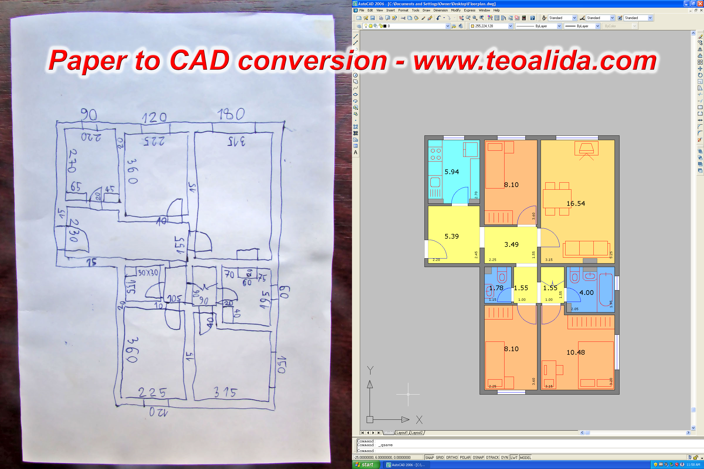Paper to CAD conversion