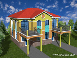 Philippine Houses in semi-detached layout