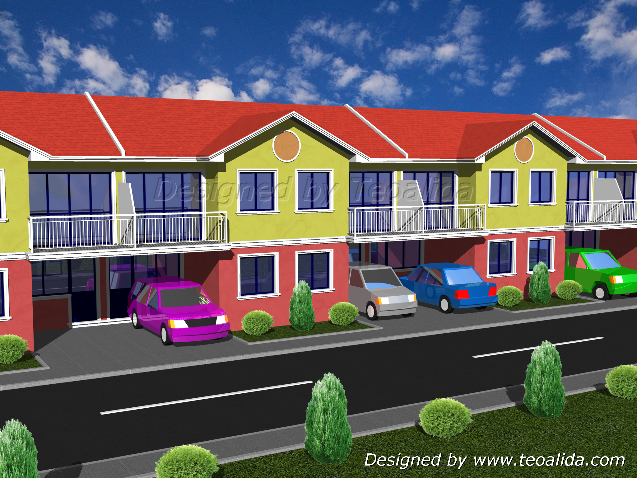 M j obl ben dom house design 60 sqm 120 for Townhouse design in the philippines