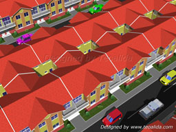 4-bedroom townhouse for Philippines, 80 sqm