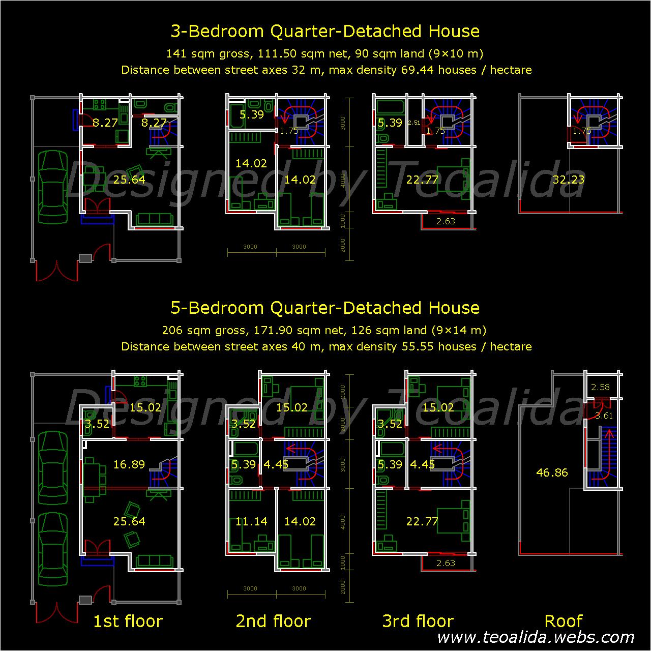 Quarter-Detached house plan