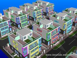 Quarter-Detached housing