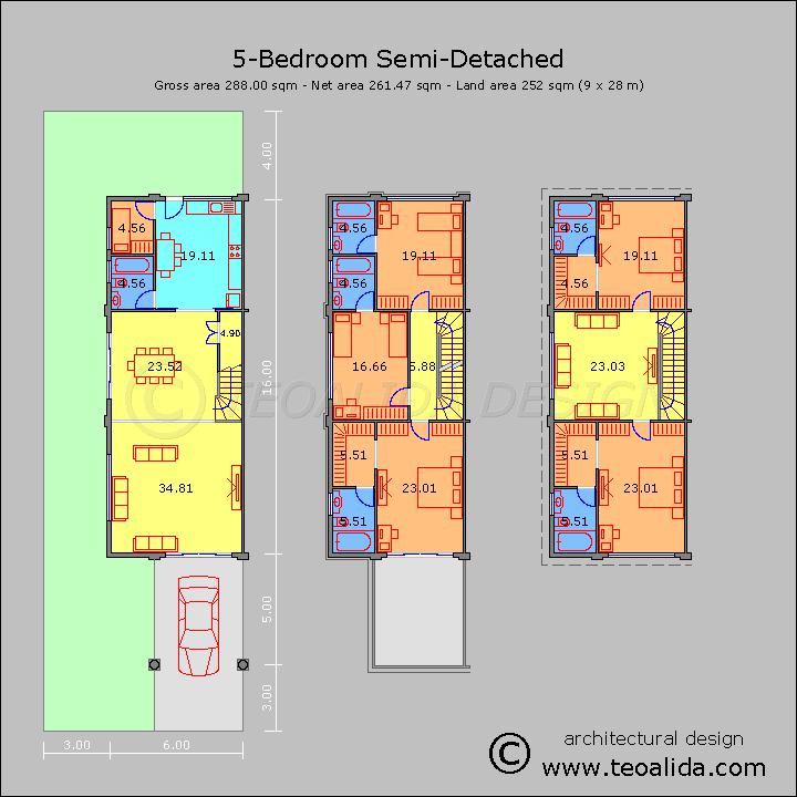 Rumah berkembar 5 bilik tidur 300 meter persegi