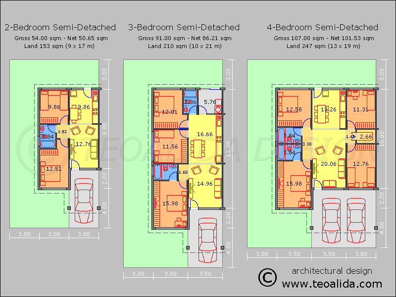 Semi-Detached House 2-3-4 bedroom