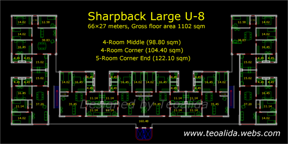 Sharpback Large U-8 floor plan