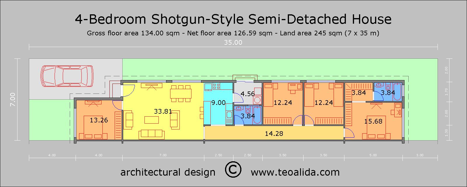 Shotgun Home 4 bed