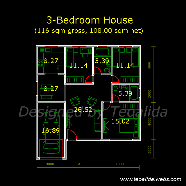 House Floor Plans 50 400 Sqm Designed By Teoalida: DELETED From House Plans Page