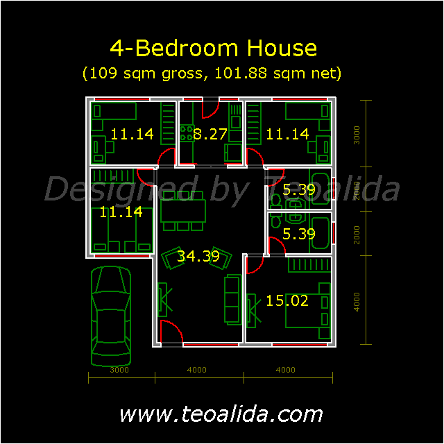 Bungalow with 4 bedrooms