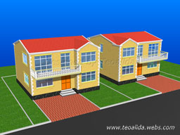 Square house 3D