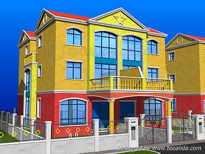 Terrace Airwells, semi-detached versions, street view