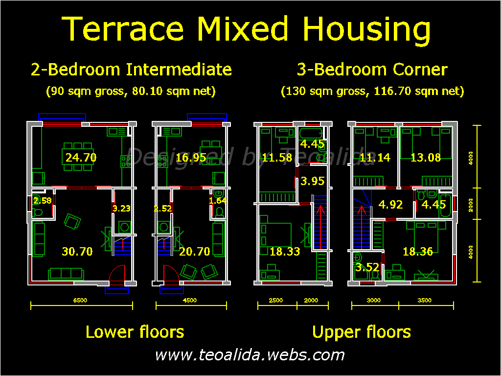 Terraced Mixed floor plan