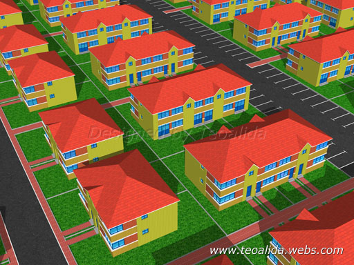 Terraced Mixed 3D design