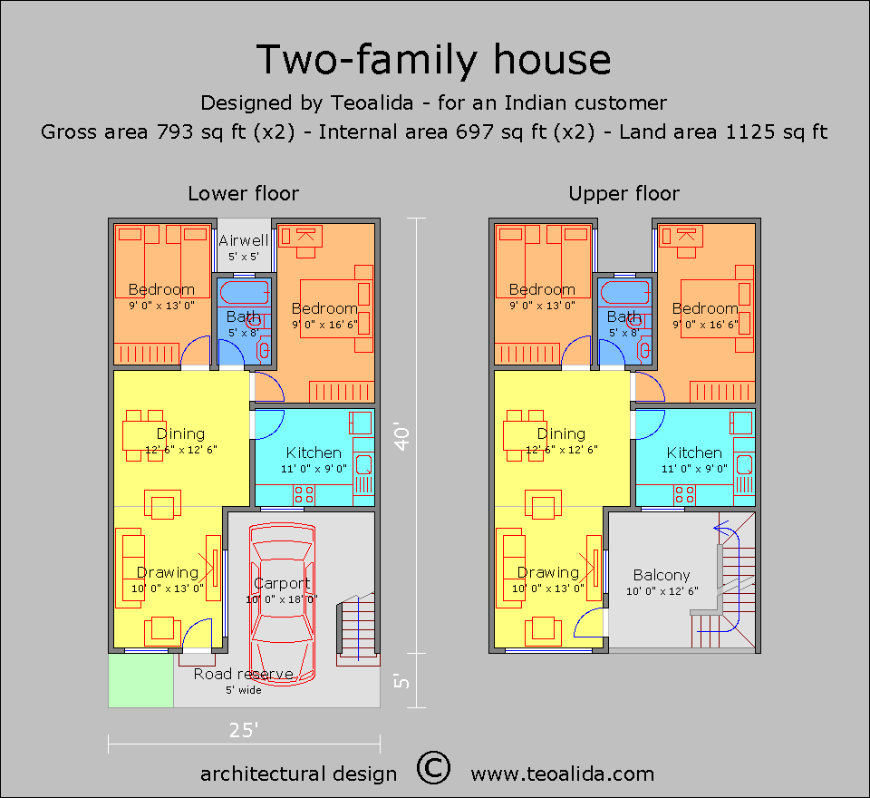 Multi-generation house floor plan