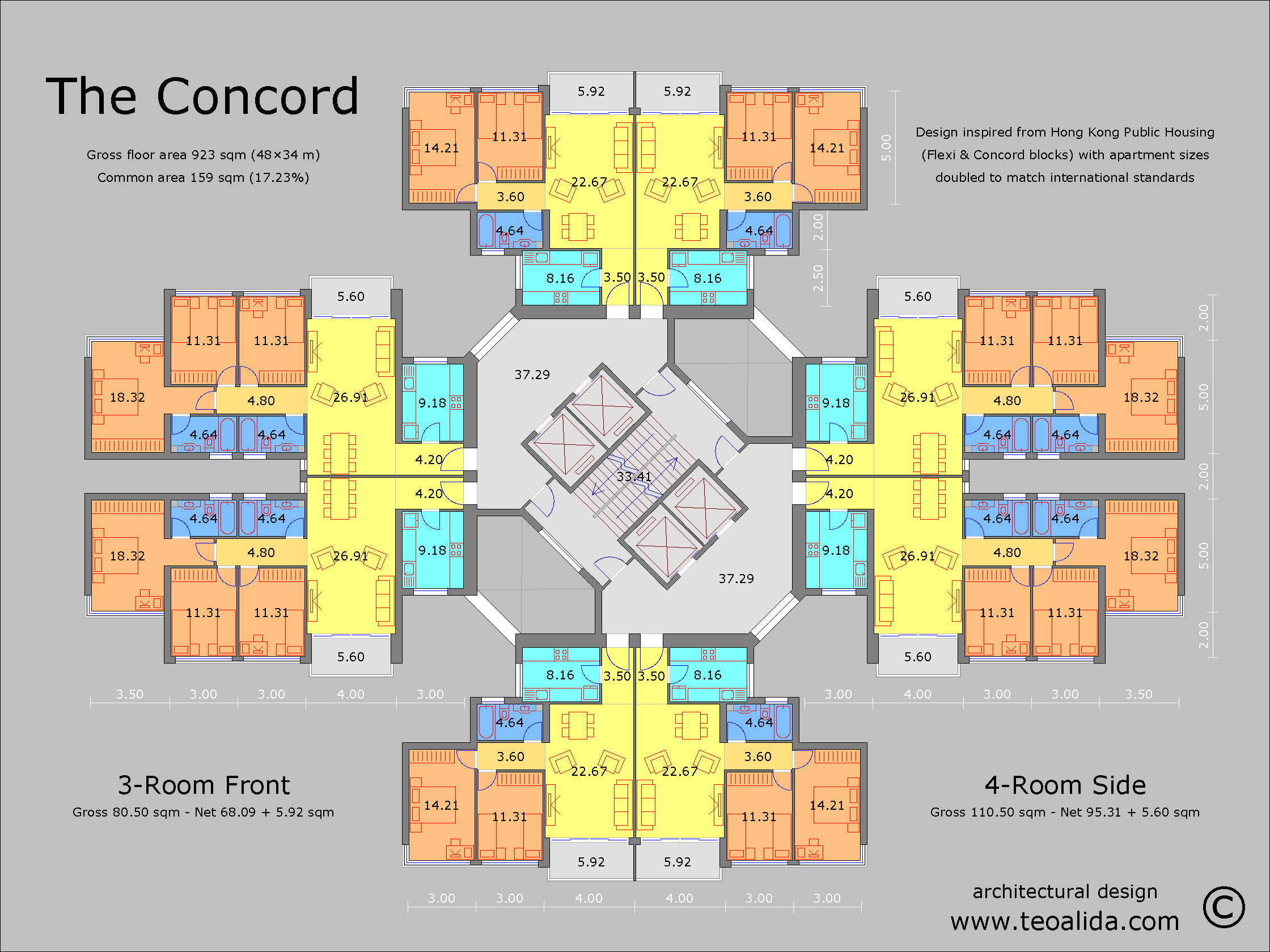 The Concord floor plan